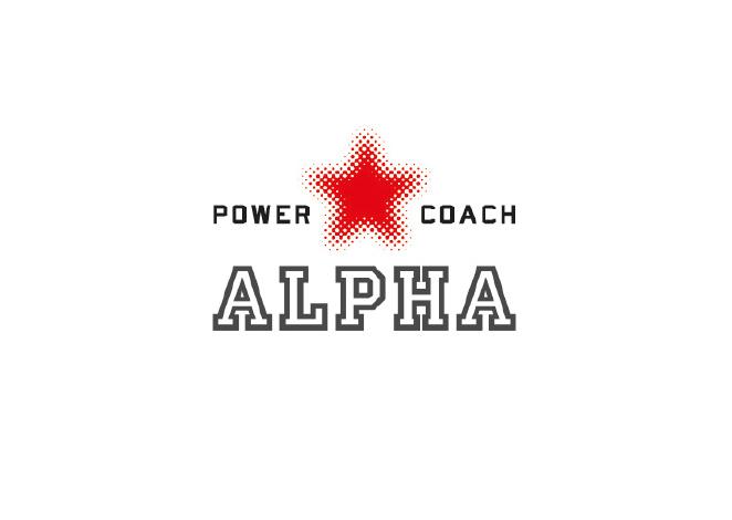 Logo gemaakt door Studio Tango voor powercoach Alpha